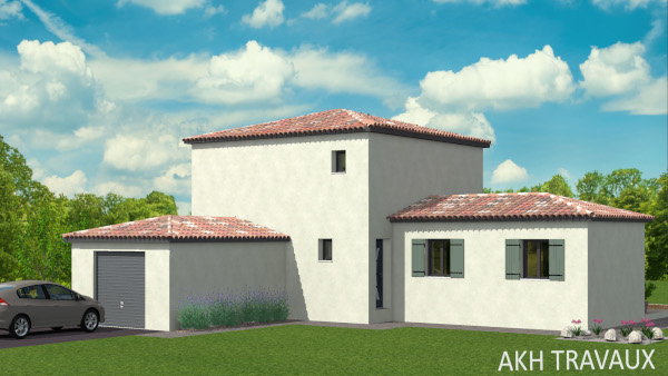 AKH Project - Modèle Le Baliser : Surfaces 122.16 m² et garage 18.50 m²