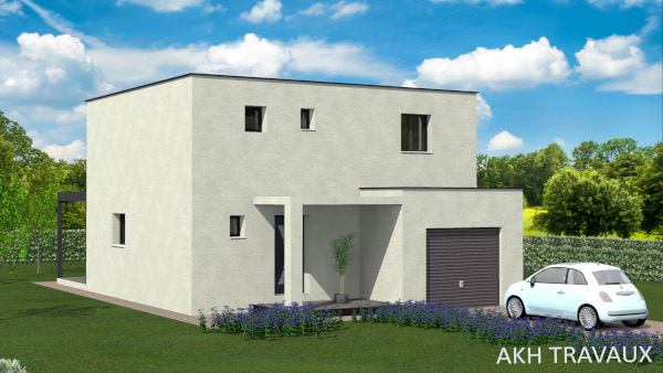 AKH Project  - Modèle Passiflora : Surfaces 85.57 m² et garage 18.00 m²